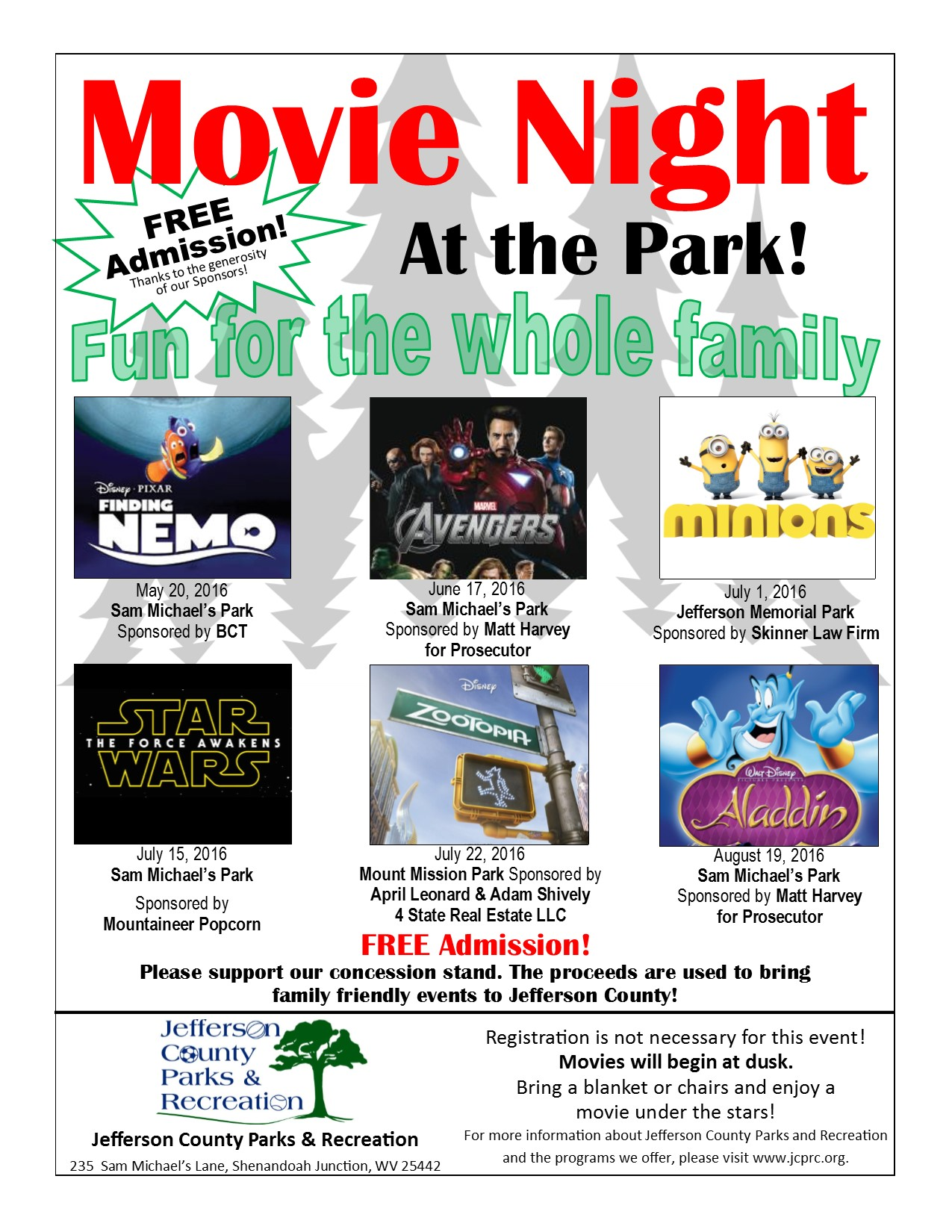 "Movie in the Park featuring ""Minions"""