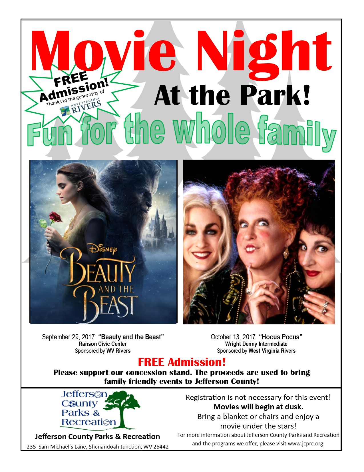 Movie in the Park Fall Movies