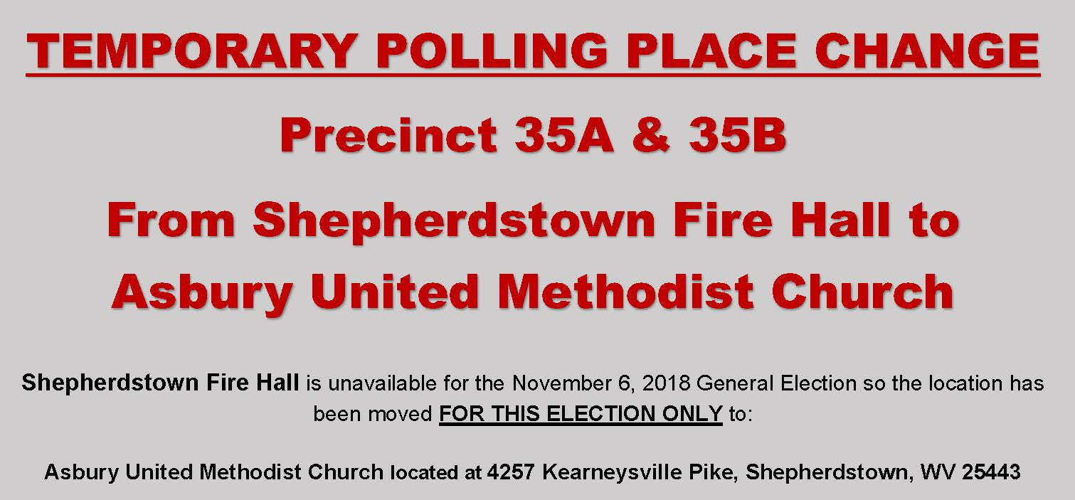 TEMPORARY POLLING PLACE CHANGE