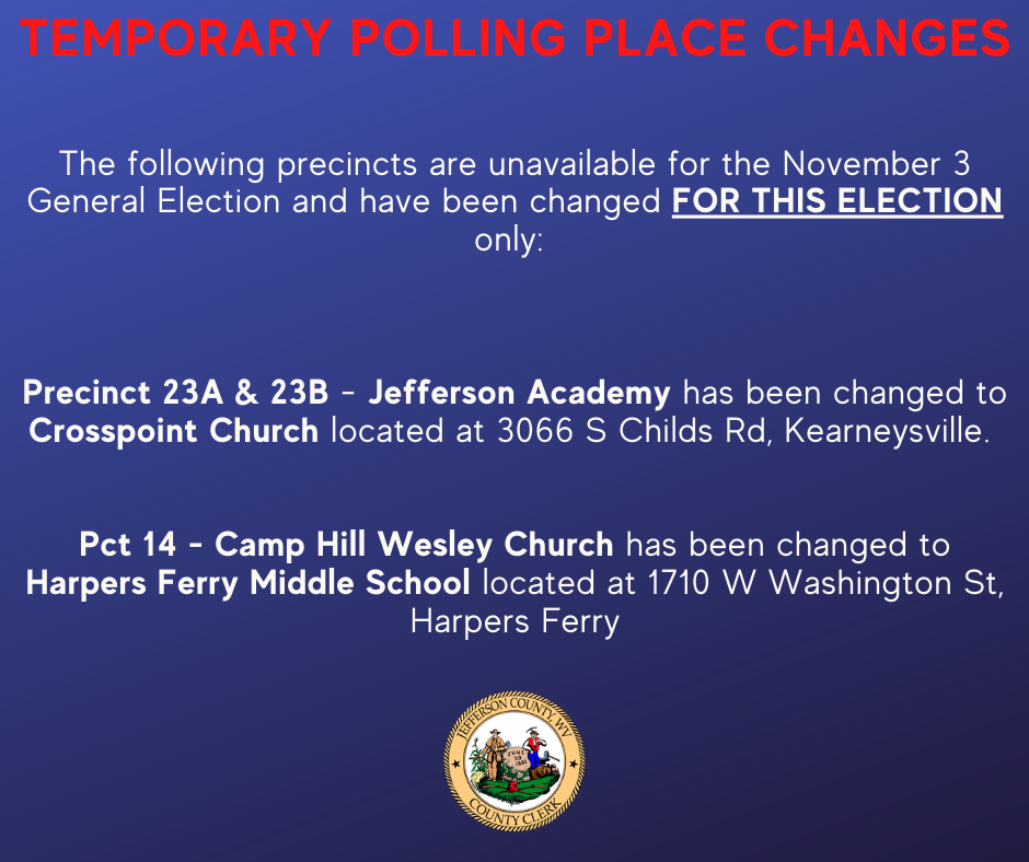 Precinct Change Notice - Pct 14, 23A, 23B