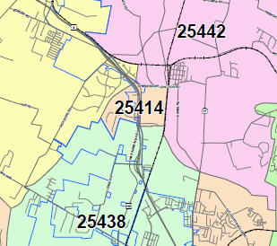 Jefferson County Zip Code Map Paper Maps | Jefferson County Commission, WV